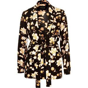 River Island Floral Belted Jacket